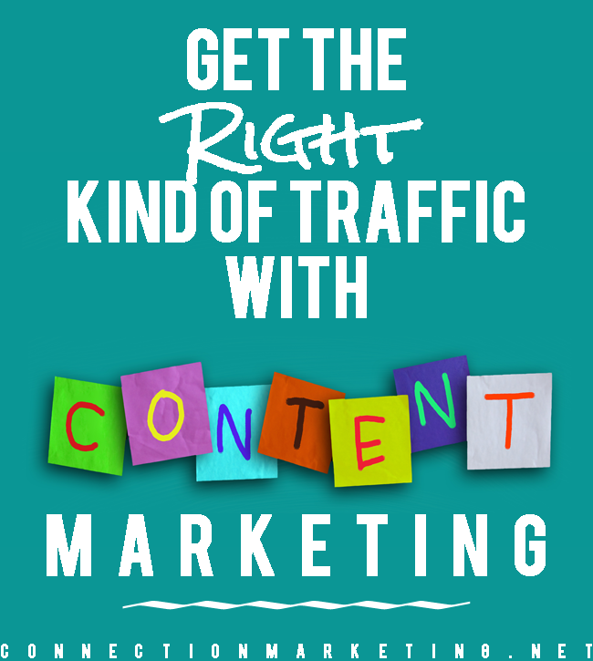 Get the Right Kind of Traffic with Content Marketing | Connection Marketing